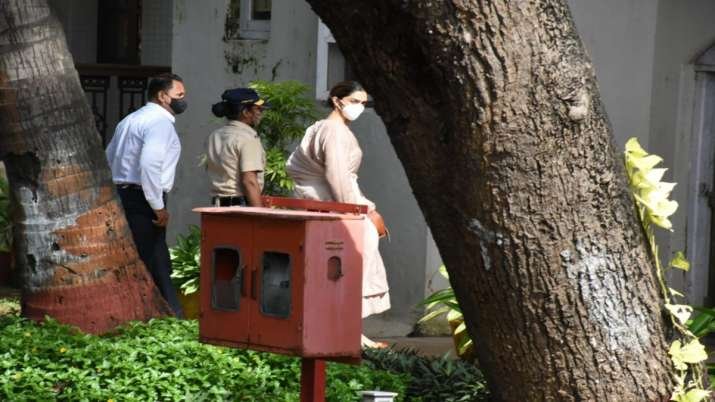 Deepika Padukone reaches NCB office without security, questioning underway. See pics