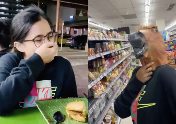 Hear it from the horse's mouth: Woman drops her mask, friends get her a horse's head!