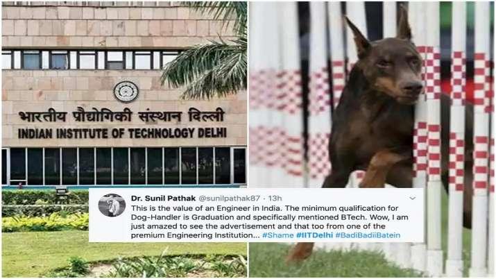 IIT Delhi Dog Handler recruitment