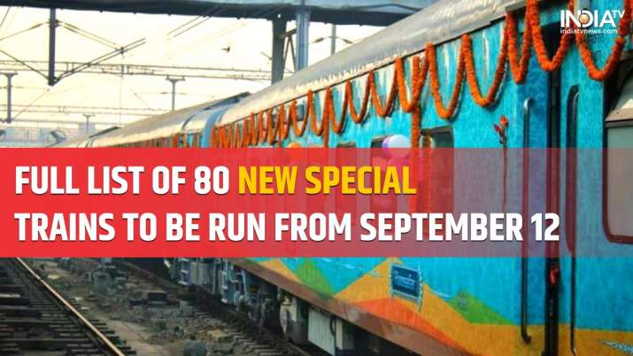 Indian Railways full list of 80 new trains to run Sep 12 check arrival  departure train frequency | India News – India TV