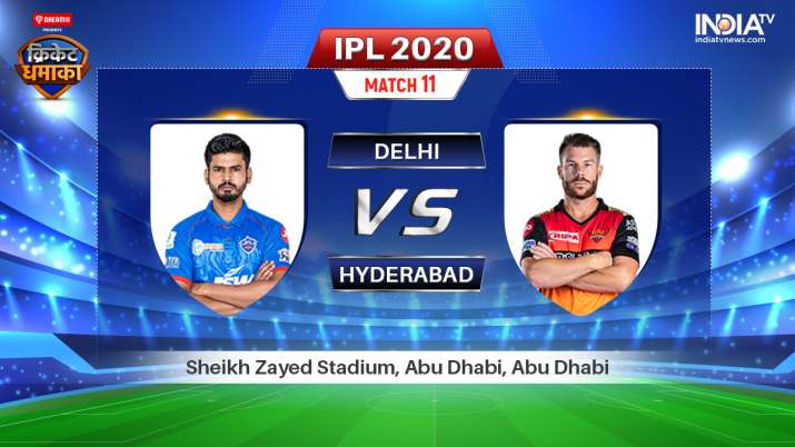 DC vs SRH IPL 2020: Watch Delhi Capitals vs SunRisers Hyderabad live IPL match online and on TV