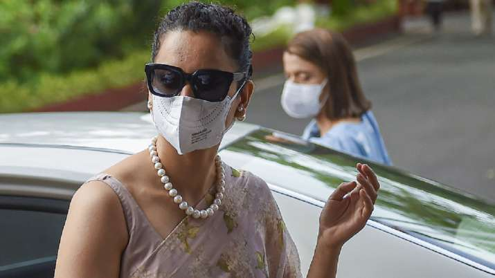 In this file photo, Bollywood actor Kangana Ranaut arrives
