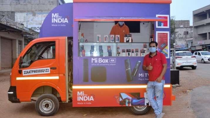 xiaomi, xiaomi mi store on wheels, mi store, xiaomi offline store, xiaomi online store, mi india, te