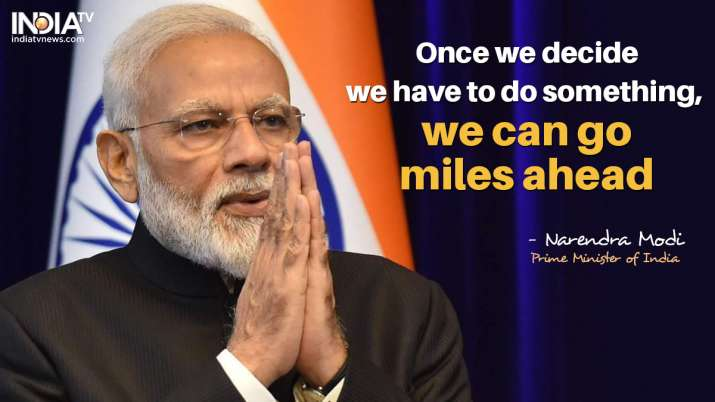 India Tv - Once we decide we have to do something, we can go miles ahead, says PM Modi
