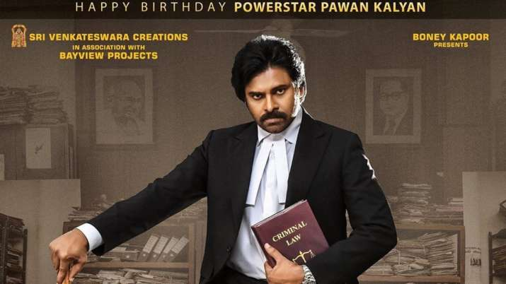 On Pawan Kalyan'sThe announcement of Vakeel Saab's new poster was shared by the producer Boney Kapoo