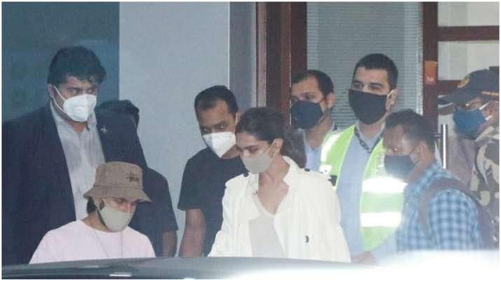 Deepika Padukone with Ranveer Singh, Sara Ali Khan arrive in Mumbai ahead of NCB probe