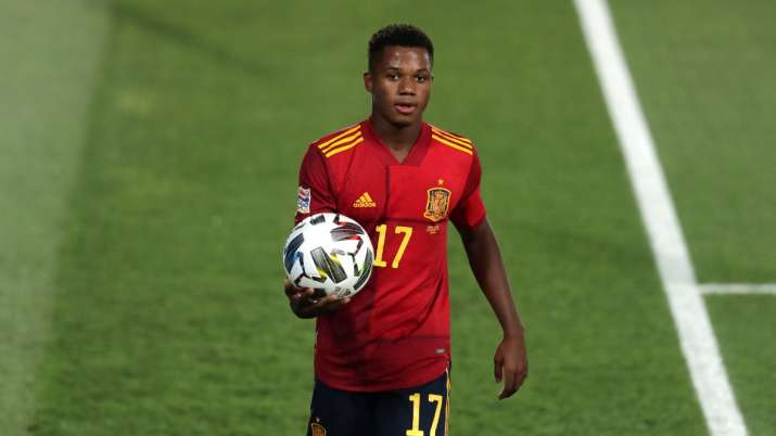 Nations League: Ansu Fati becomes Spain's youngest-ever scorer in 4-0 win  over Ukraine | Football News – India TV
