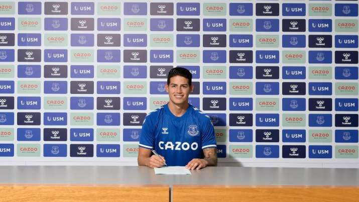 James Rodriguez joins Everton to revive career in England