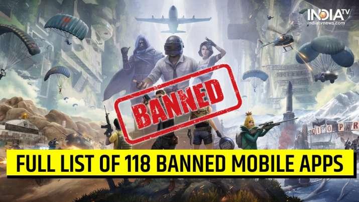 PUBG banned, 118 mobile apps banned, banned apps full list, govt bans 118 apps