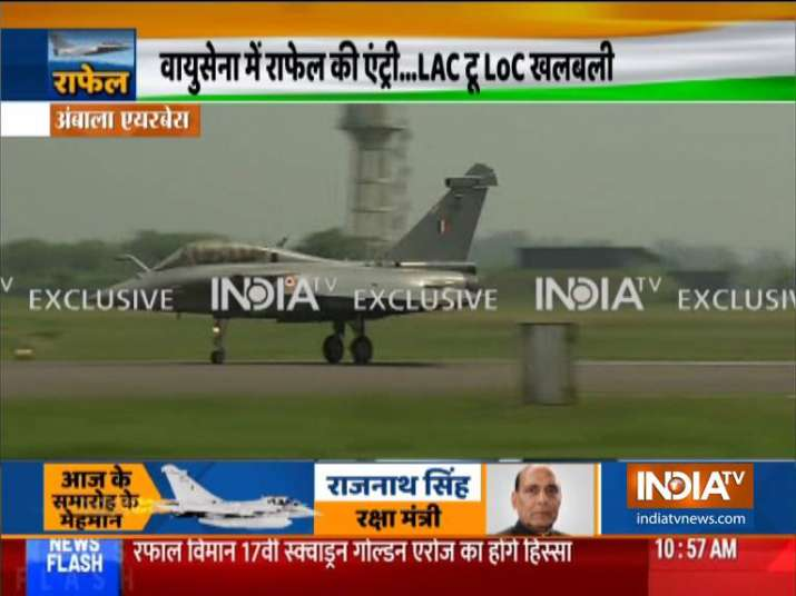 LIVE: First batch of 5 Rafale fighter jets formally