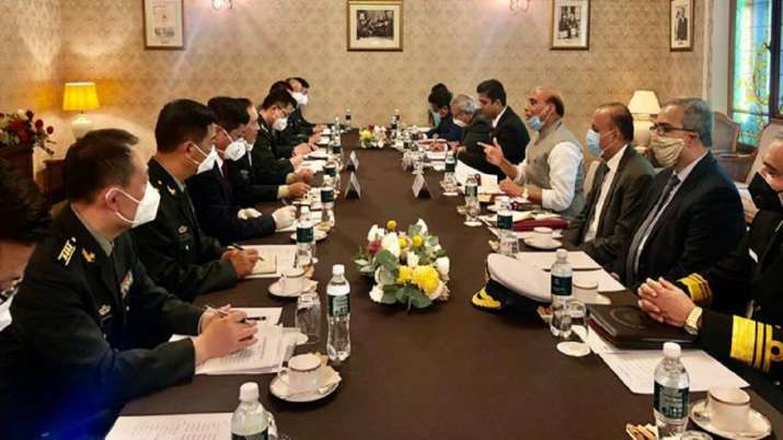 Defence Minister Rajnath Singh meets Chinese counterpart in