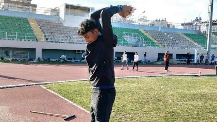 India Tv - Rohit during training session.