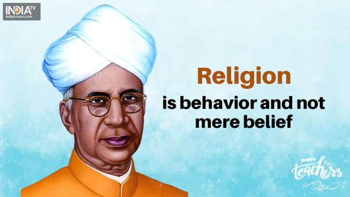 India Tv - Religion is behavior and not mere belief