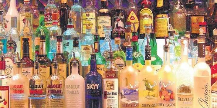 old whiskey bottles