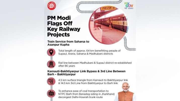 In a big boost to Railway Infrastructure in Bihar, Prime