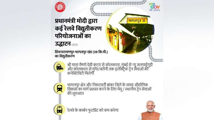 India Tv - Electrification of rail line between Shiv Narainpur and Bhagalpur will be a big boost for passengers