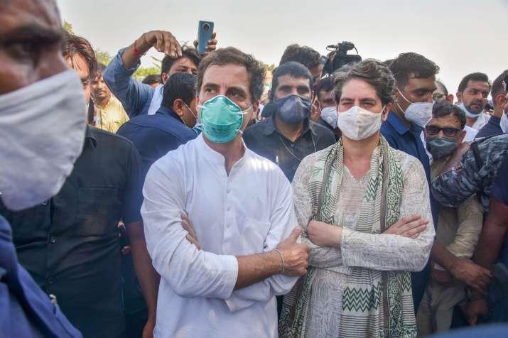 Noida: FIR against Rahul Gandhi, Priyanka, 200 other Congress workers under Epidemic Diseases Act