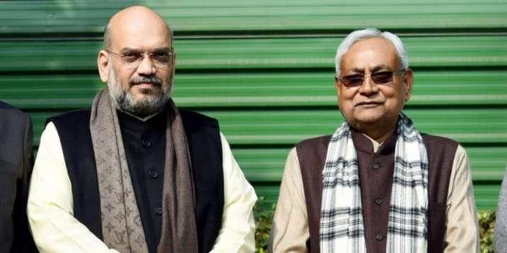 Union Minister Amit Shah and Bihar Chief Minister Nitish Kumar