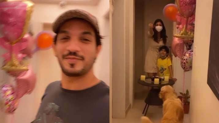 Arjun Bijlani makes COVID-19 positive wife Neha Swami's quarantine birthday super special. See pics,