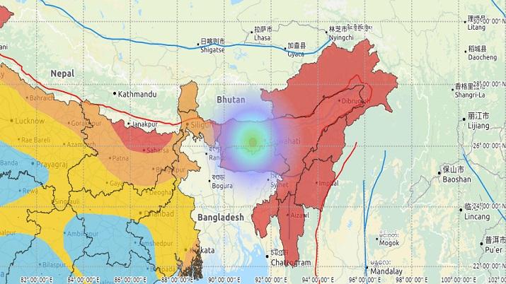 Earthquake hits Assam's Kampur