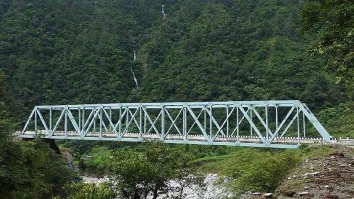 India Tv - BRO bridge, Rajnath Singh