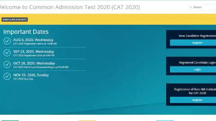 CAT admit card 2020: IIM CAT admit card 2020 to release tomorrow. Steps to download hall ticket