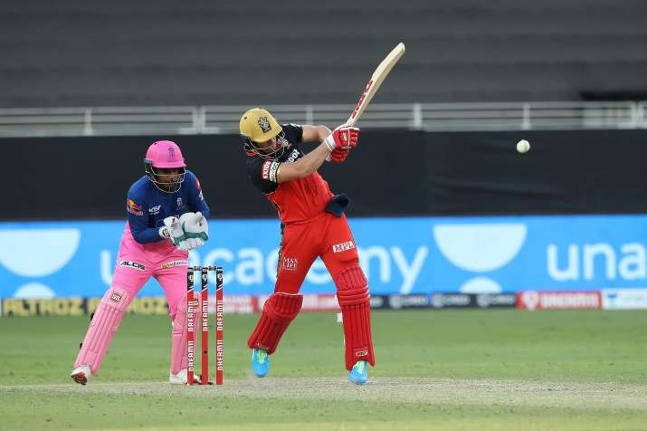 ABD Villiers in action on Saturday.