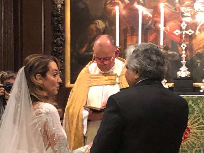 India Tv - Harish salve wedding, harish salve caroline brossard wedding, harish salve wife, who is caroline bro