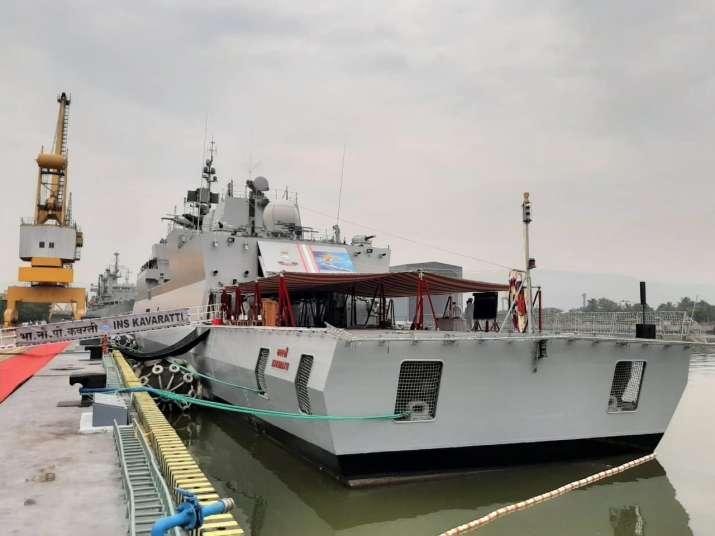 INS Kavaratti, INS Kavaratti commissioned, INS Kavaratti commissioned into indian navy, INS Kavaratt