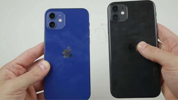 apple, apple iphone, iphone 12, iphone 11, iphone 12 dorp test, iphone 12 durability test, iPhone 11