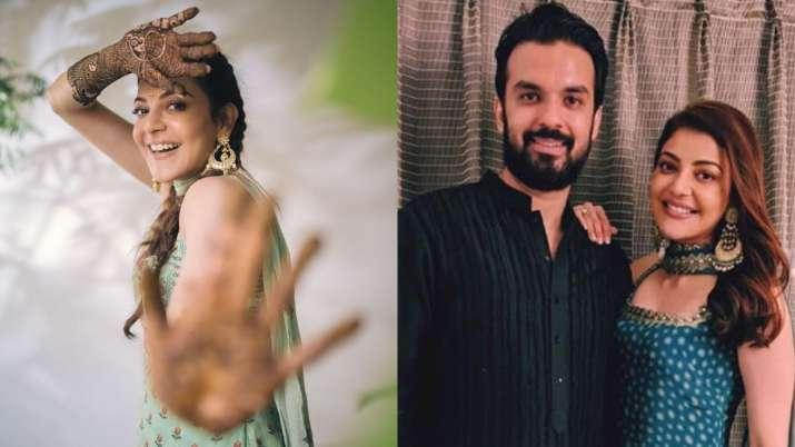 Photos of Kajal Aggarwal from pre-wedding function will give you 'mehendi laga ke rakhna feels'