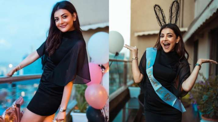 Kajal Aggarwal's bachelorette party: Actress looks stunning in LBD as she parties before her wedding