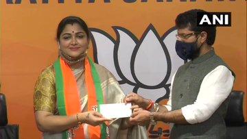 Actor-turned-politician Khushbu Sundar joins BJP