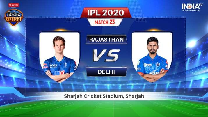 IPL 2020 Live, Live Match Score Rajasthan Royals vs today match, Delhi Capitals ipl 2020 Live Cricke