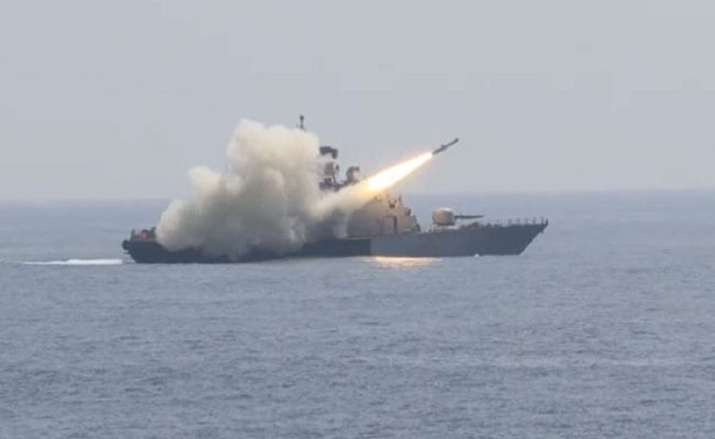 Indian Navy missile video