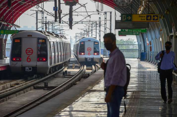 Noida: Health teams conduct random COVID-19 tests on Metro passengers travelling from Delhi