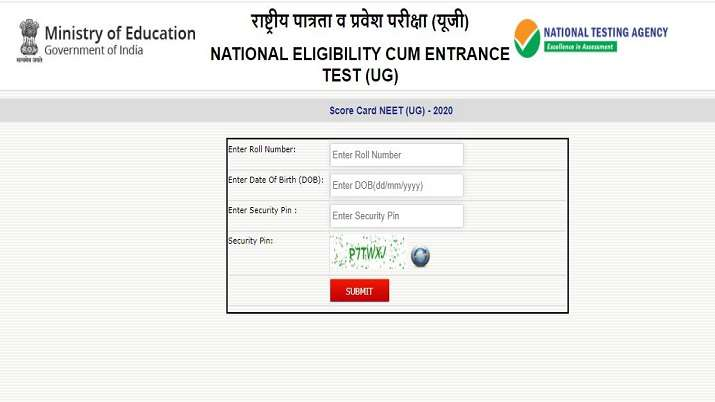 NEET Result 2020 declared: NTA activates direct link to check result