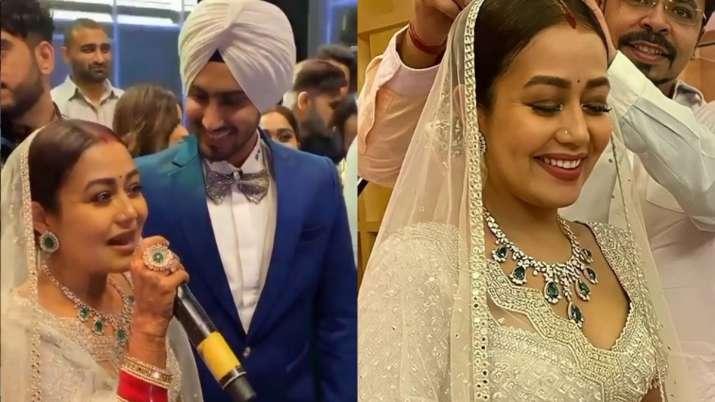 Neha Kakkar, Rohanpreet Singh's wedding reception viral photos, videos for  your eyes only | Celebrities News – India TV