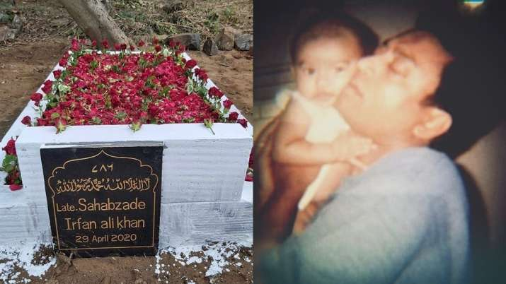 Irrfan's son Babil shares photo of actor's grave adorned with roses