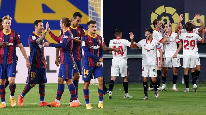 Barcelona vs Sevilla Live Streaming La Liga in India: Watch Barca vs SEV live football online on Fac