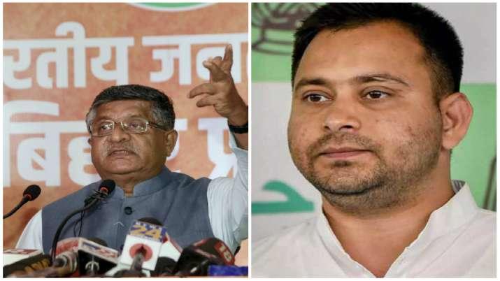 Union Minister Ravishankar Prasad and Rashtriya Janata Dal leader Tejashwi Yadav