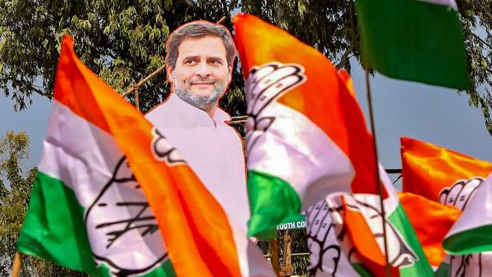 Life-size cutout of Congress leader Rahul Gandhi put on displayed during Kheti Bachao Yatra against
