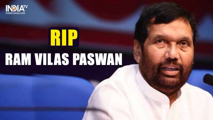 Ram Vilas Paswan passes away at 74.