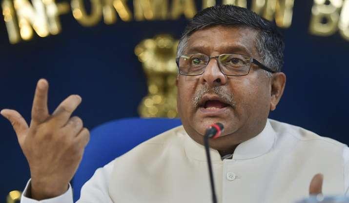 Senior BJP leader and Union Law Minister Ravi Shankar Prasad