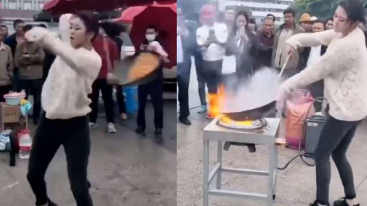 Twitter explodes with reactions on female chef's 'Gangnam Style' cooking. Watch video