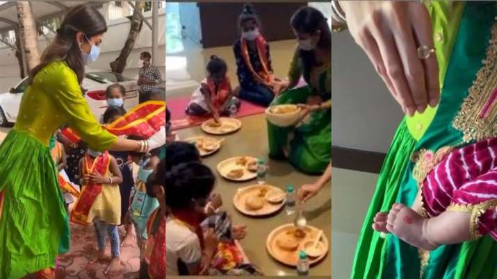 Navratri 2020: Shilpa Shetty celebrates her daughter Samisha's first kanya puja