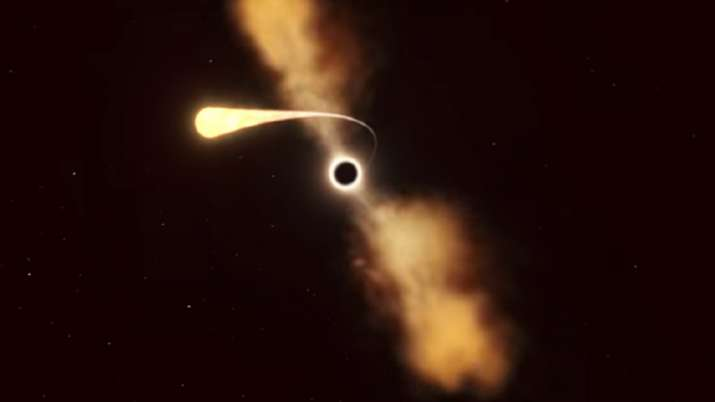 Black hole, star