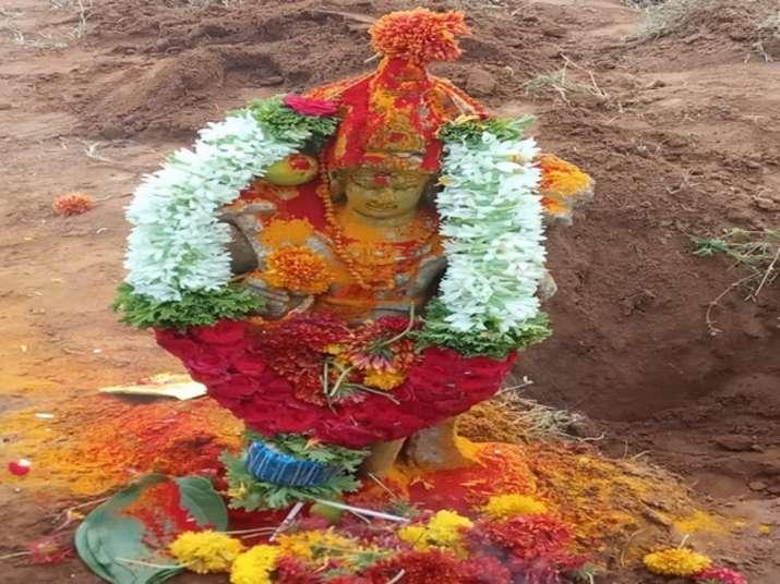 India Tv - sun god sculpture found