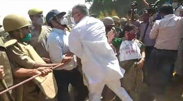 TMC MPs stopped from visiting family of Hathras gangrape victim, claims party