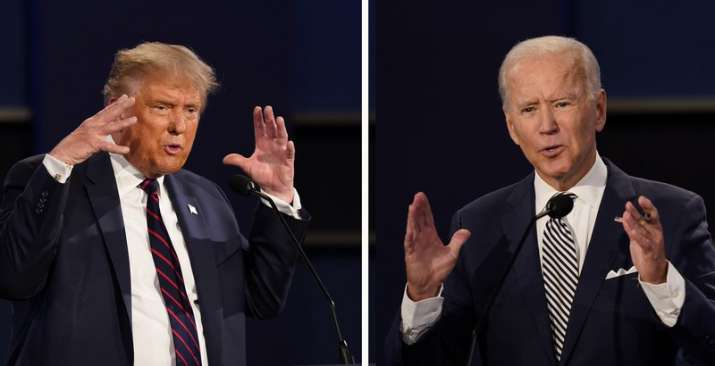 President Donald Trump and former Vice President Joe Biden during the first presidential debate at C